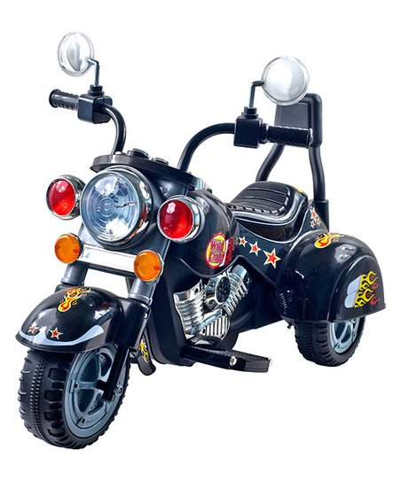 Black Road Warrior Motorcycle Ride-On