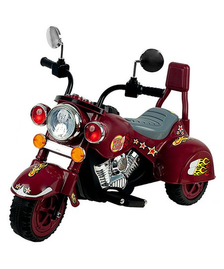 Maroon Road Warrior Motorcycle Ride-On