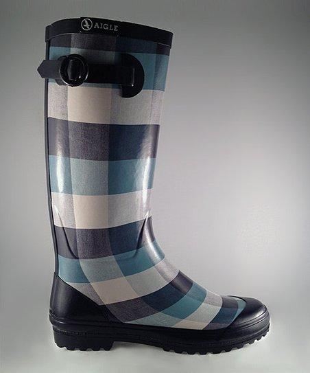 Blue Polka Rain Boot – Women