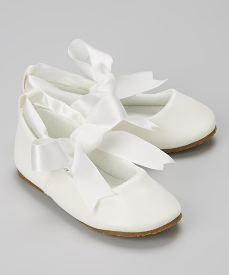 Ivory Bow Ballet Flat