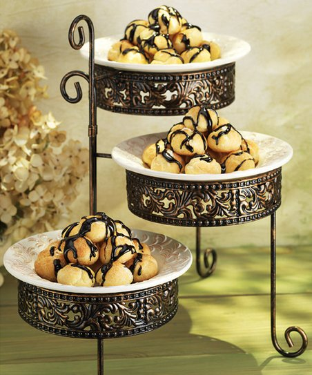 Home Essentials Three-Tier Dessert Bowl