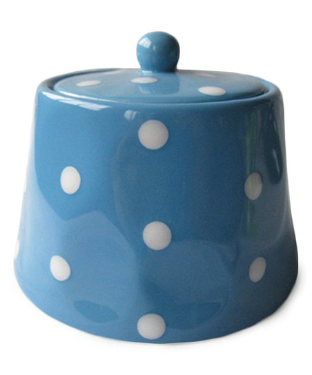 Home Essentials Turquoise Polka Dot Cream Pitcher