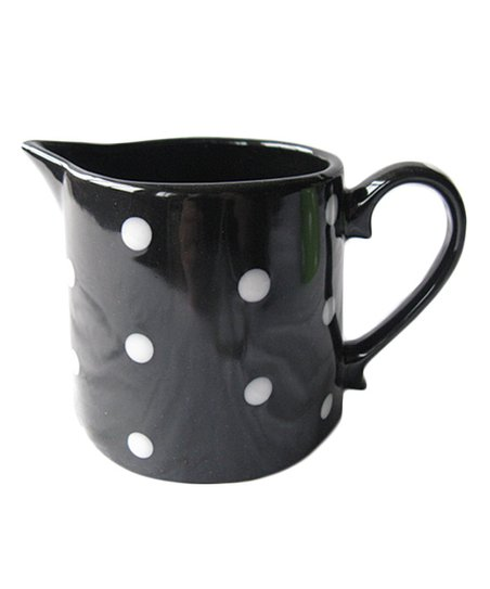 Home Essentials Black Polka Dot Cream Pitcher