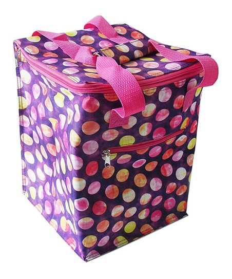 Home Essentials Pink Tie-Dye Dot Oversized Lunch Tote