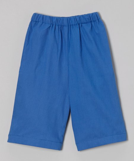 Navy Ruffle Shorts – Toddler & Boys