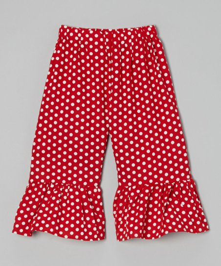 Red Polka Dot Ruffle Shorts – Toddler & Girls