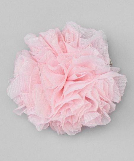 Pink Shabby Flower Clip