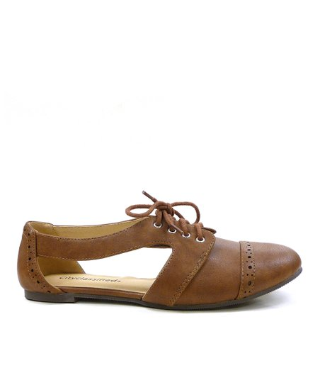 Tan Simmon Cutout Oxford