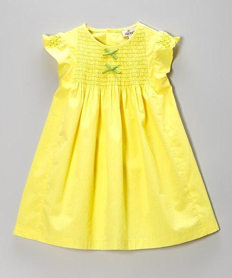 Yellow Smocked Swing Dress – Infant & Toddler