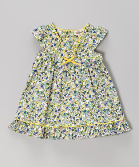 Green & Yellow Floral Swing Dress – Infant