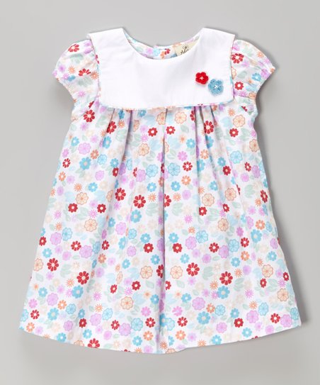Pink & White Floral Swing Dress – Infant