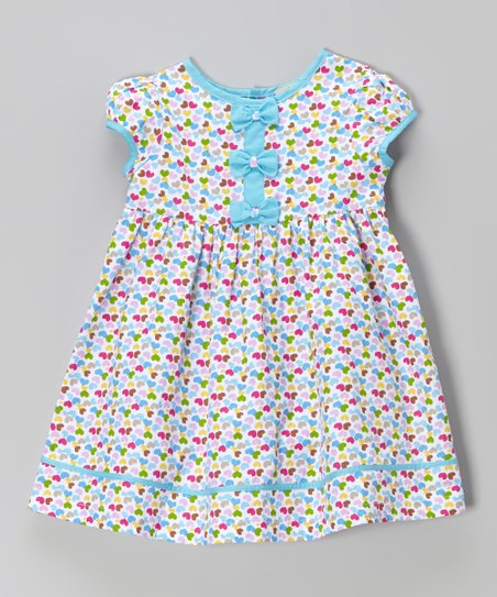 Pink & Blue Hearts A-Line Dress – Infant, Toddler & Girls