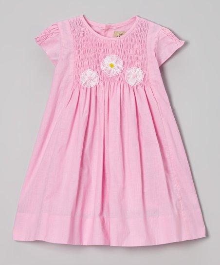 Pink Smocked Floral Dress – Infant, Toddler & Girls