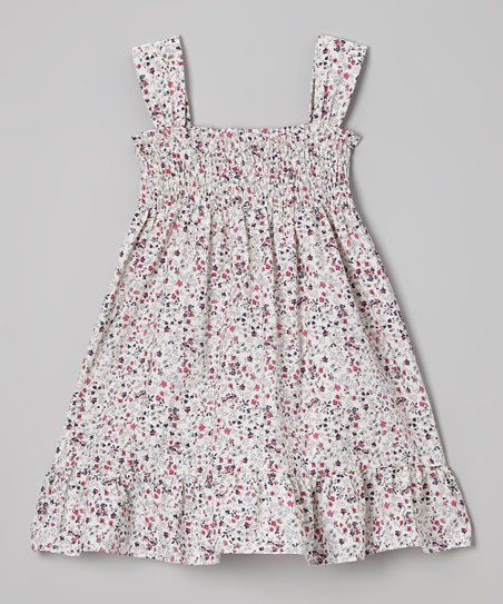 White & Pink Floral Dress – Infant, Toddler & Girls