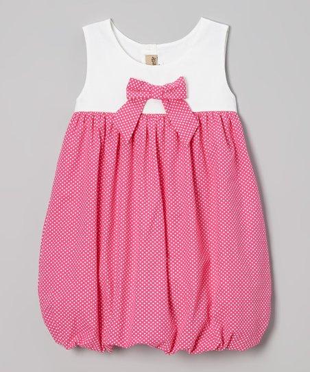 Pink & White Polka Dot Bubble Dress – Infant & Toddler