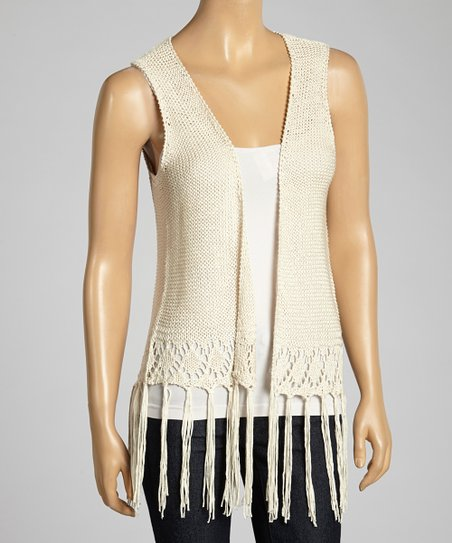 Natural Crocheted Vest