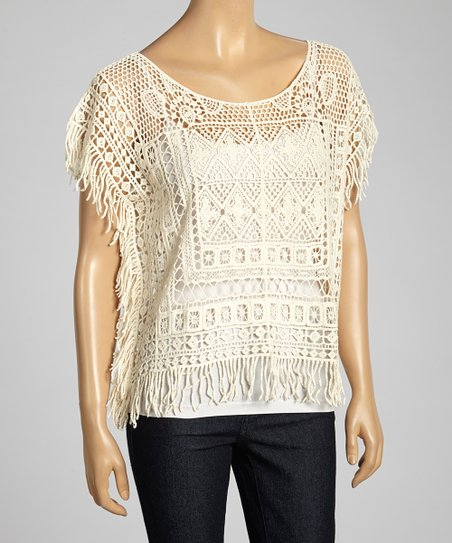 Natural Crocheted Top