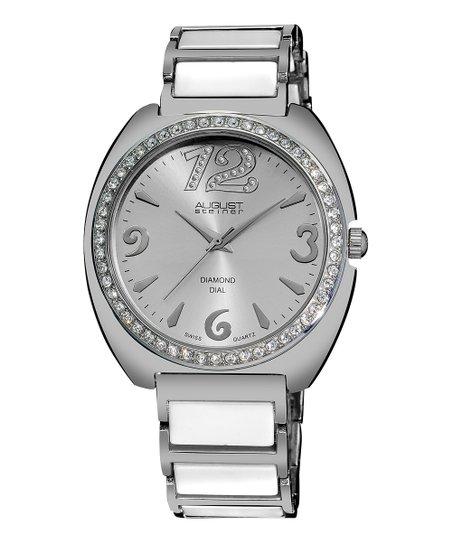 White Diamond Dial Watch