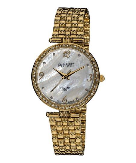 Gold Diamond Dial Watch