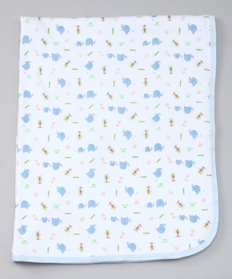 Blue Elephant Stroller Blanket