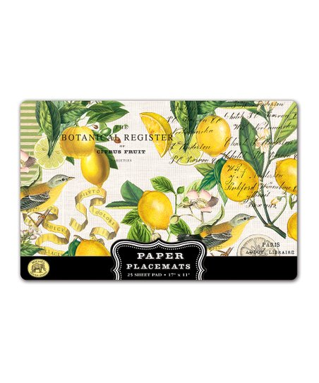 Lemon Basil Place Mat - Set of 25