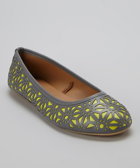 Gray & Lime Perforated Flat