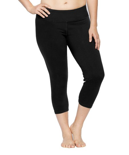 Black Skinny Capri Leggings - Plus