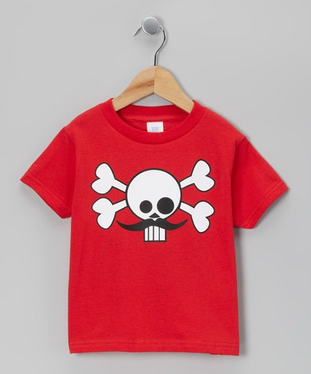 Red Skully Stache Tee - Infant & Toddler