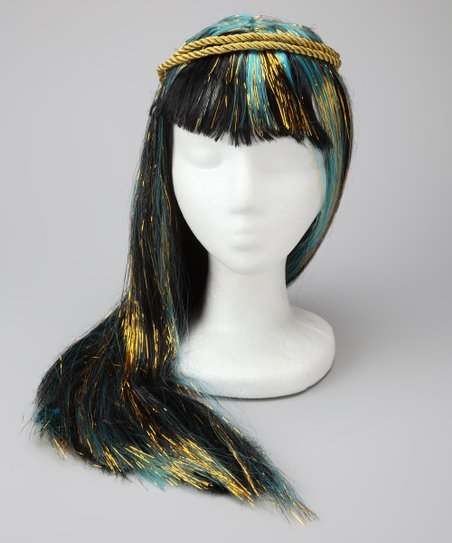 Black & Blue Cleo de Nile Wig
