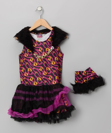 Purple Clawdeen Wolf Dress Set