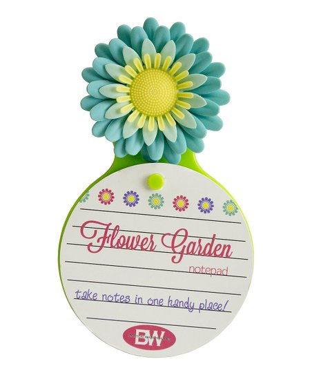 Blue Flower Garden Notepad