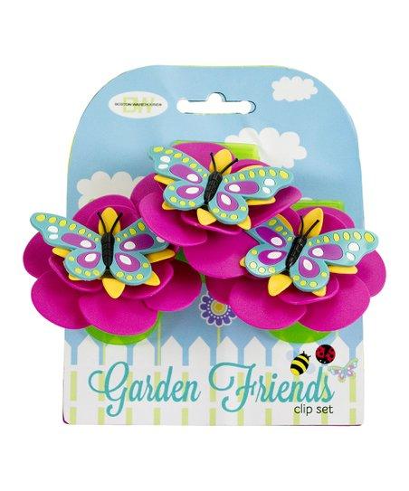 Butterfly Garden Friends Clip – Set of Three