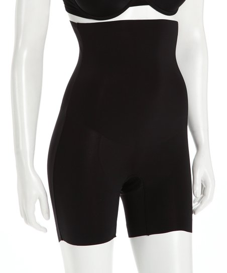 Black Compression Shaper High-Waisted Shorts