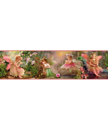 Pink Suzette Fairyland Border Wallpaper