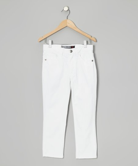 White Five-Pocket Pants - Boys