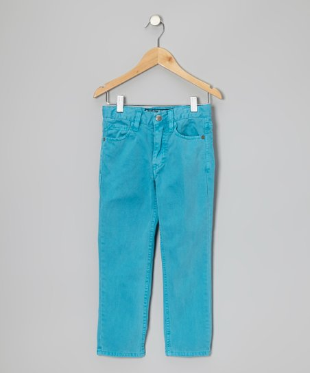 Turquoise Five-Pocket Pants - Boys