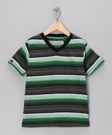 Black & Green Stripe Tee - Toddler & Boys