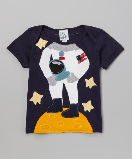 Navy Astronaut Short-Sleeve Tee - Infant
