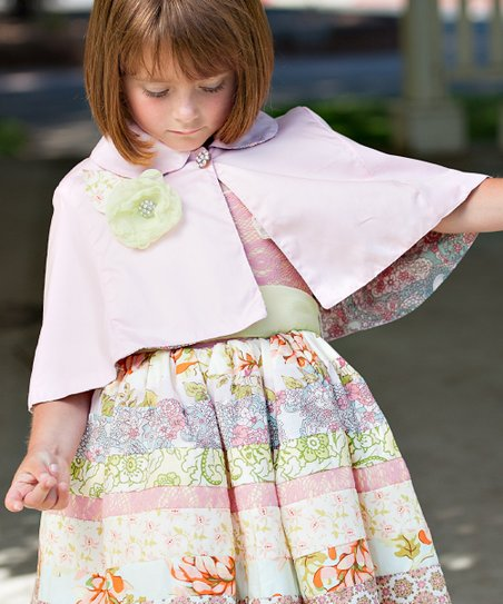 Sweet Pink Megan Cape - Infant & Girls