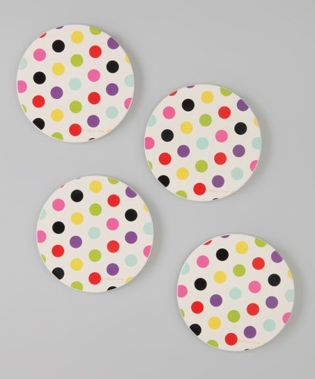 CounterArt Polka Dot Coaster - Set of Four