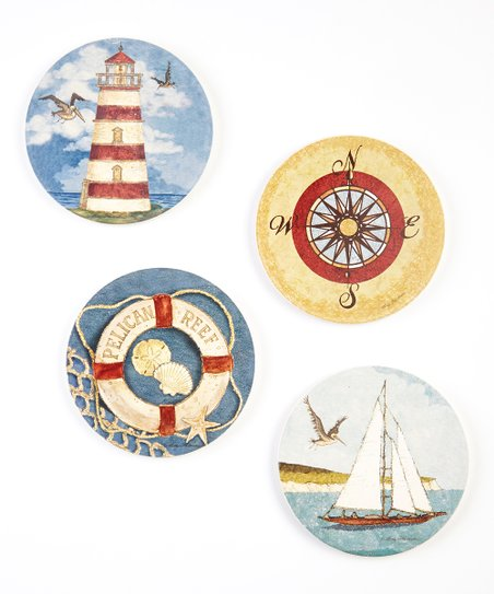 Pelican Reef Coaster Set