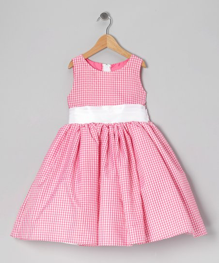 Pink Gingham Bow Dress - Infant, Toddler & Girls