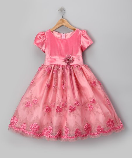 Royal Rose Organza Flower Dress - Infant, Toddler & Girls
