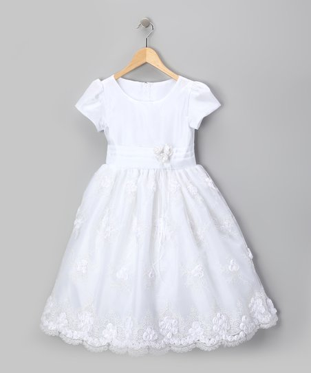 Royal White Organza Flower Dress - Infant, Toddler &amp; Girls
