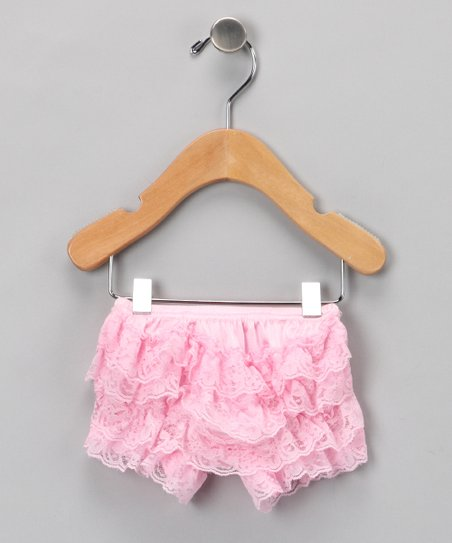 Pink Ruffle Lace Diaper Cover