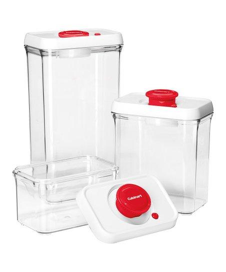 Red Three-Piece Food Storage Set