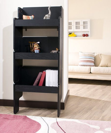 Black Skylar Stackable Display Shelf - Set of Three