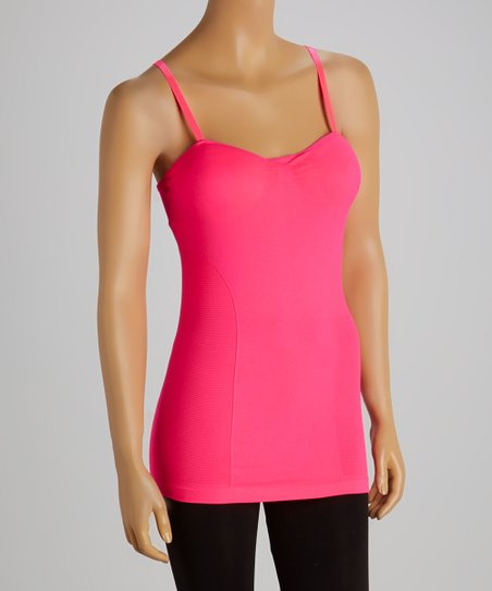 Hot Pink Padded Contour Camisole