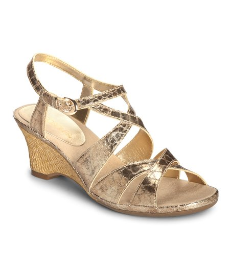 Gold Snake Bakers Dozen Sandal