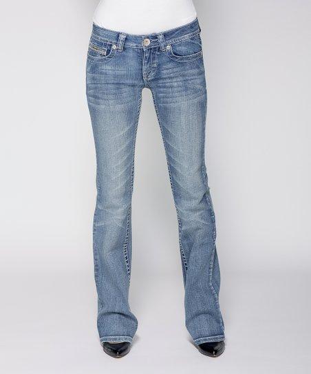 Light Stone Wash Andrea Bootcut Jeans - Women & Plus